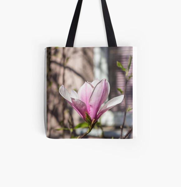 magnolia flower near window All Over Print Tote Bag