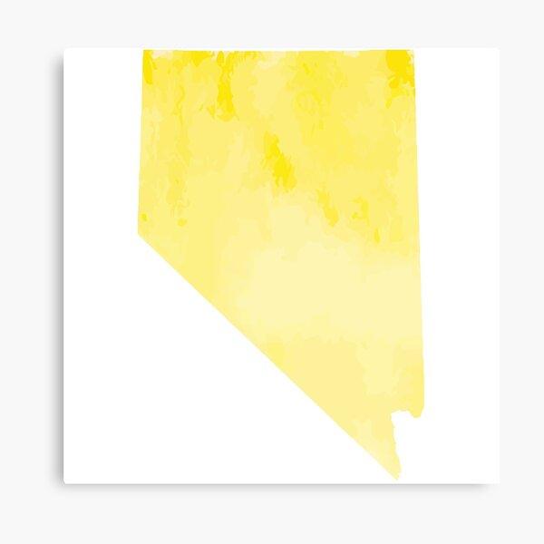 Yellow Watercolor Nevada Canvas Print