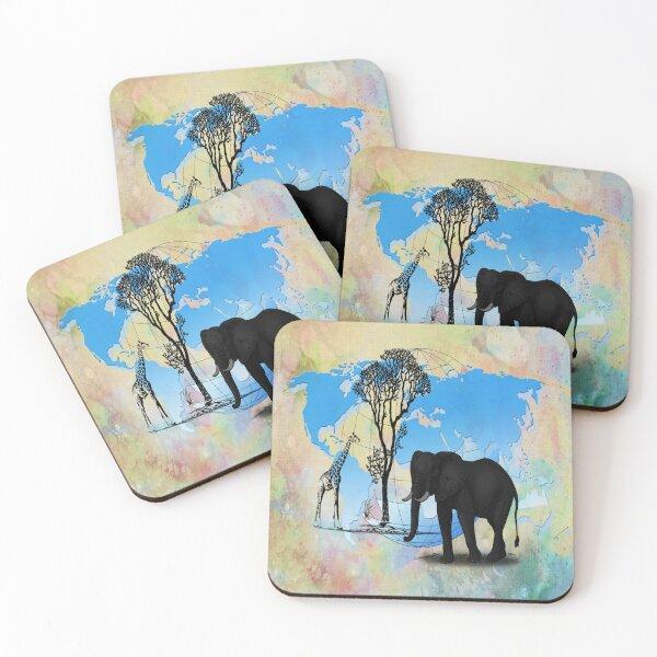 Safari Coasters (Set of 4)