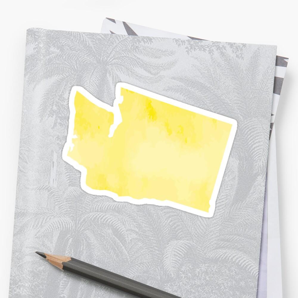 Yellow Watercolor Washington by kevgib