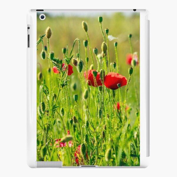 red poppy in the wheat field iPad Snap Case