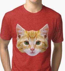 Crystalline Cat Tri-blend T-Shirt