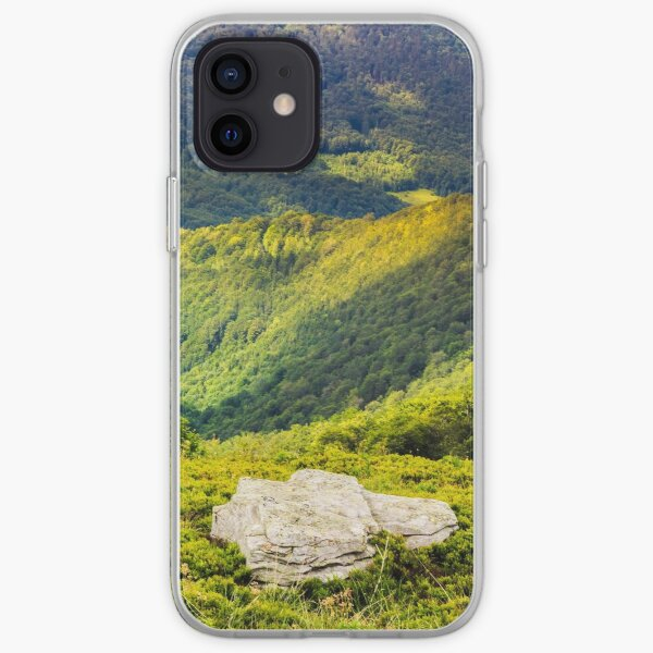 hillside with stones in high mountains iPhone Soft Case