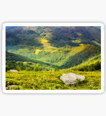 hillside with stones in high mountains Sticker