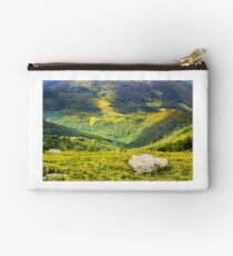hillside with stones in high mountains Studio Pouch