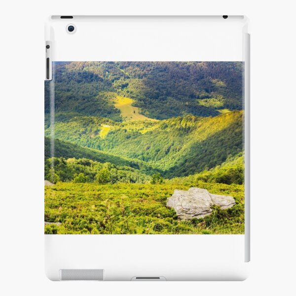 hillside with stones in high mountains iPad Snap Case