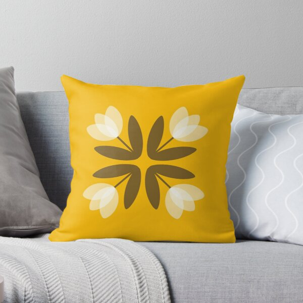 Tulips from Amsterdam in Yellow Throw Pillow
