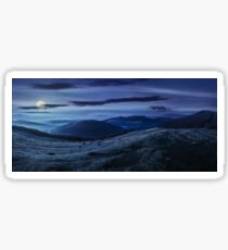 agricultural field in mountains at night Sticker