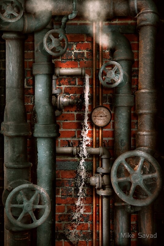 Quot Steampunk Plumbing Pipes And Valves Quot By Michael Savad