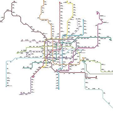 Shanghai Metro Rail Map by richdelux