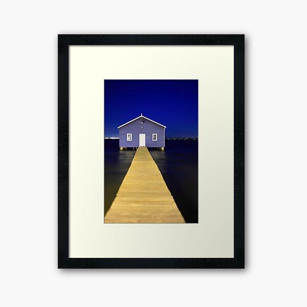 Crawley Edge Boatshed  Framed Art Print