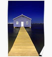 Crawley Edge Boatshed  Poster