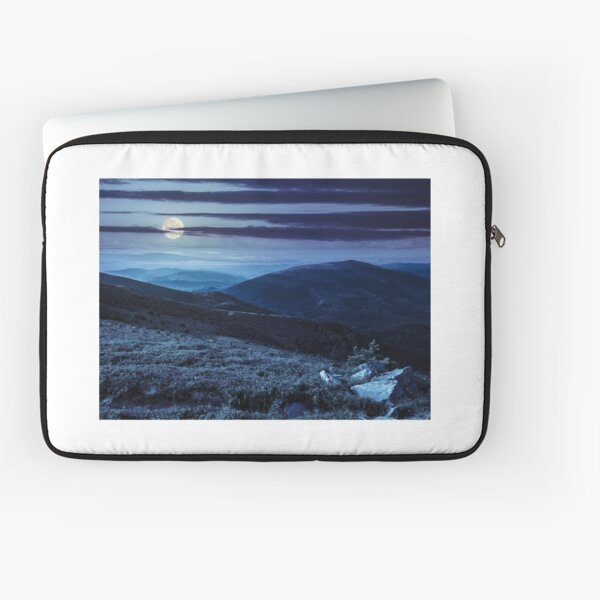 hillside with stones in high mountains at night  Laptop Sleeve