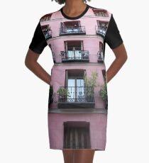 Pink House Graphic T-Shirt Dress