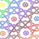 Rainbow Squares by Hena Tayeb