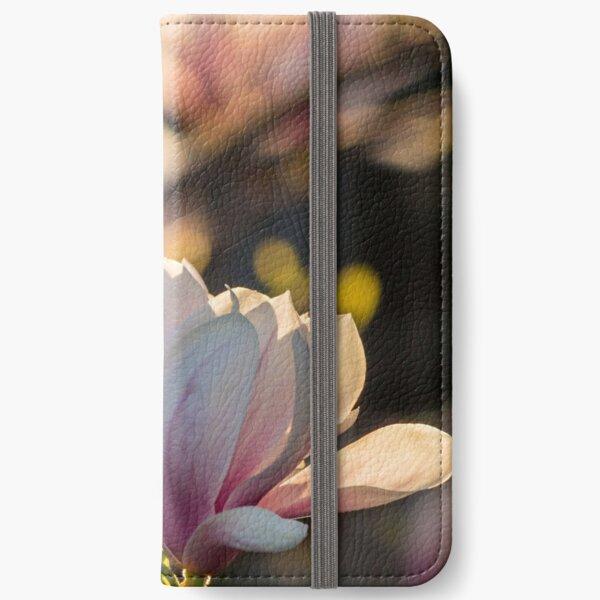 magnolia flower iPhone Wallet