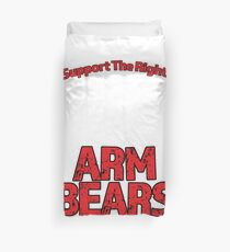 Support the Right to Bear Arms Design Duvet Cover