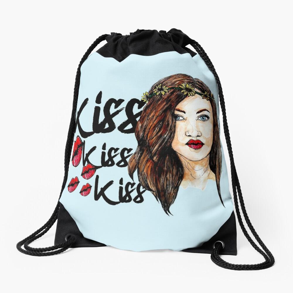 Kiss kiss kiss  Drawstring Bag