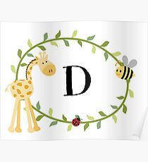 Nursery Letters D Poster