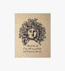 Lámina de exposición Sylvia Plath - Lady Lazarus
