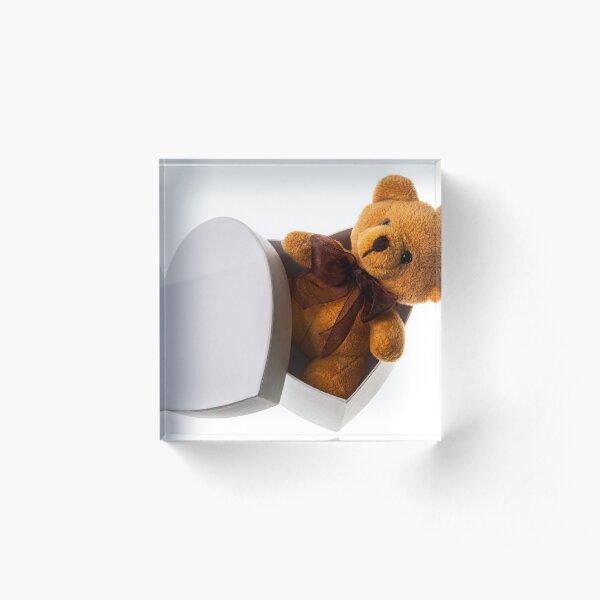 bear in heart box Acrylic Block