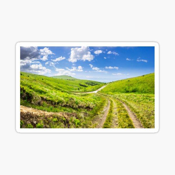 path through highland meadows Sticker