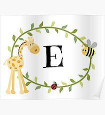 Nursery Letters E Poster