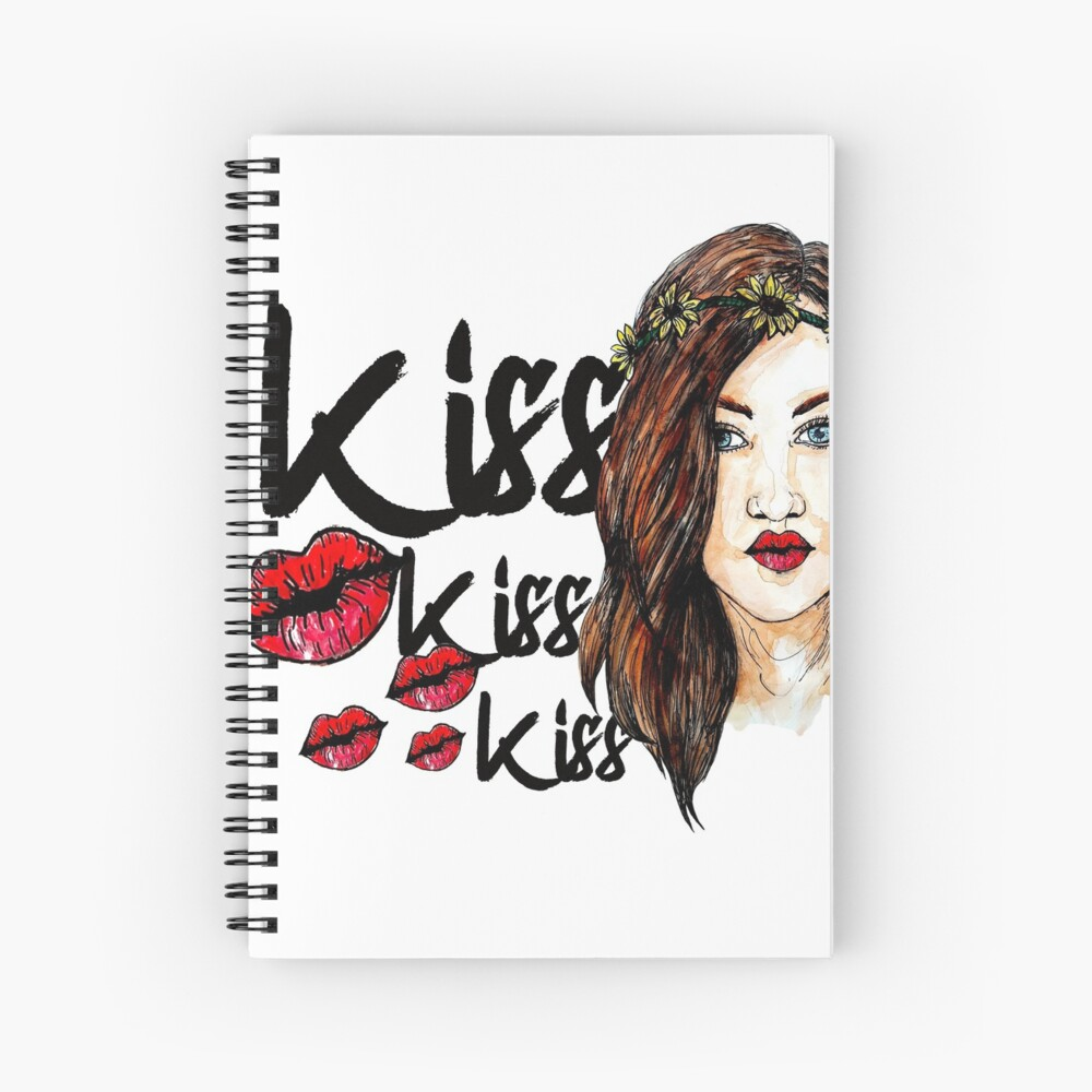 Kiss kiss kiss  Spiral Notebook
