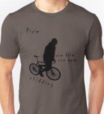 Fixie - one bike one gear - skidding (black) Unisex T-Shirt