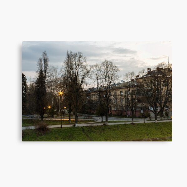 old city street in the morning Canvas Print