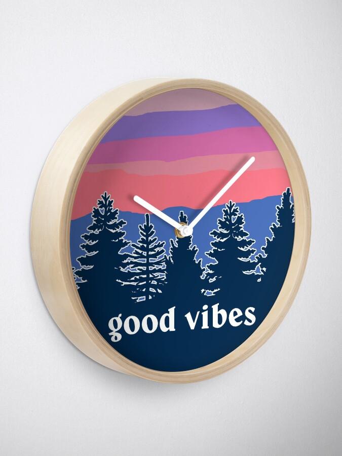Alternate view of Good Vibes Clock