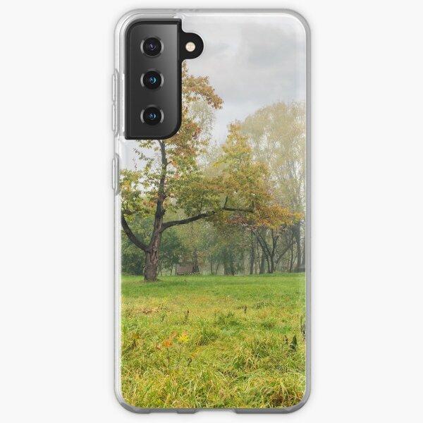 cold fog on in park Samsung Galaxy Soft Case