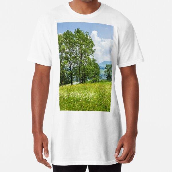 forest glade on hillside Long T-Shirt