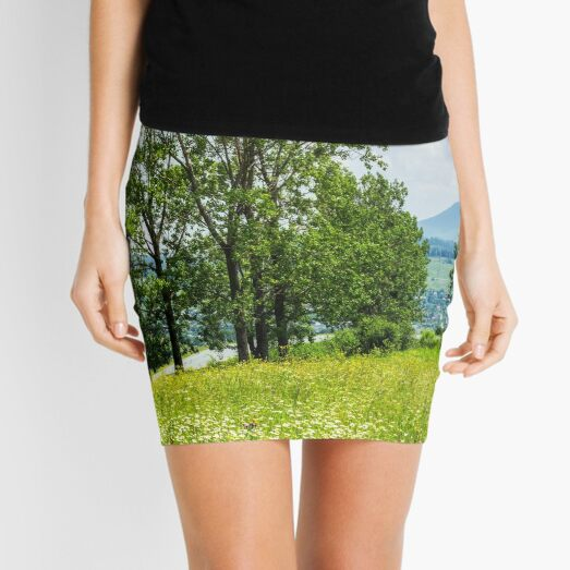 forest glade on hillside Mini Skirt