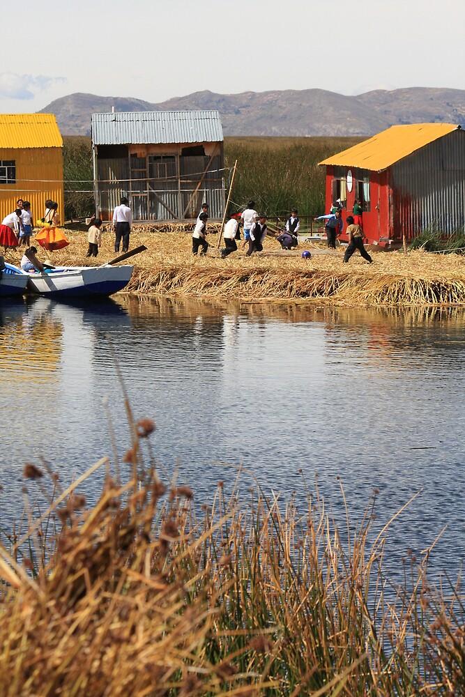 floating school, lake titicaca, peru by nickaldridge