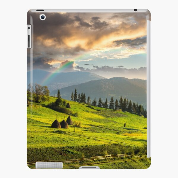 path near field with haystacks iPad Snap Case