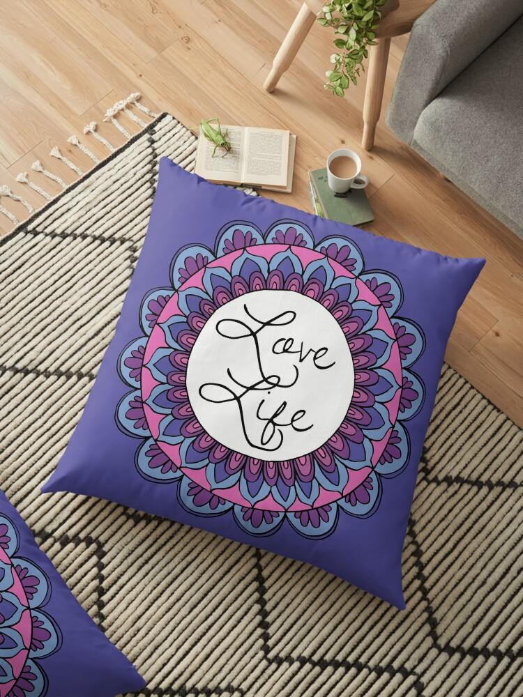 Love Life Mandala Ultraviolet by julieerindesign
