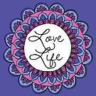 Love Life Mandala Ultraviolet by julieerindesign