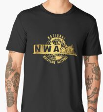 National Wrestling Alliance Logo - GOLD Men's Premium T-Shirt