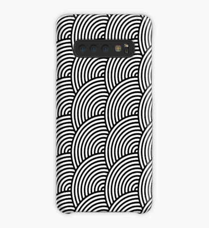 Offset Concentric Circles Pattern 003 Case/Skin for Samsung Galaxy