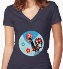 Portuguese Rooster Women's Fitted V-Neck T-Shirt