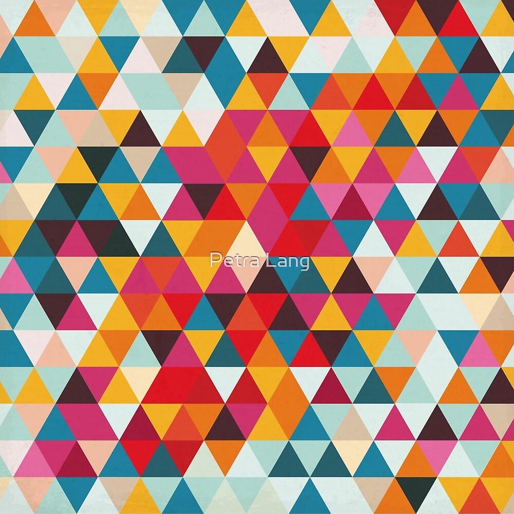 Paleta De Colores De Verano Vintage Patrón De Triángulo Geométrico