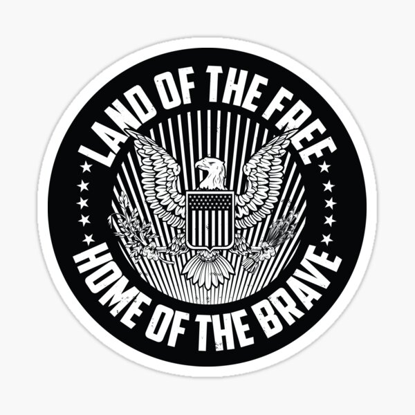 US Seal - Land of the Free Home of The Brave Sticker