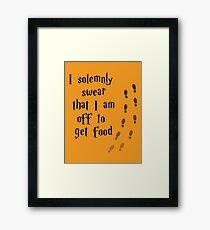 Solemnly Swear Framed Print