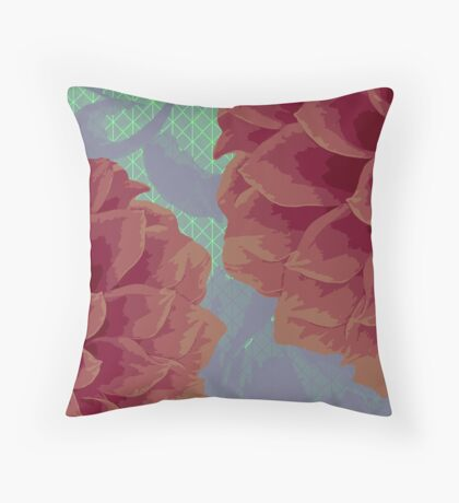 Survival of Flowers Throw Pillow
