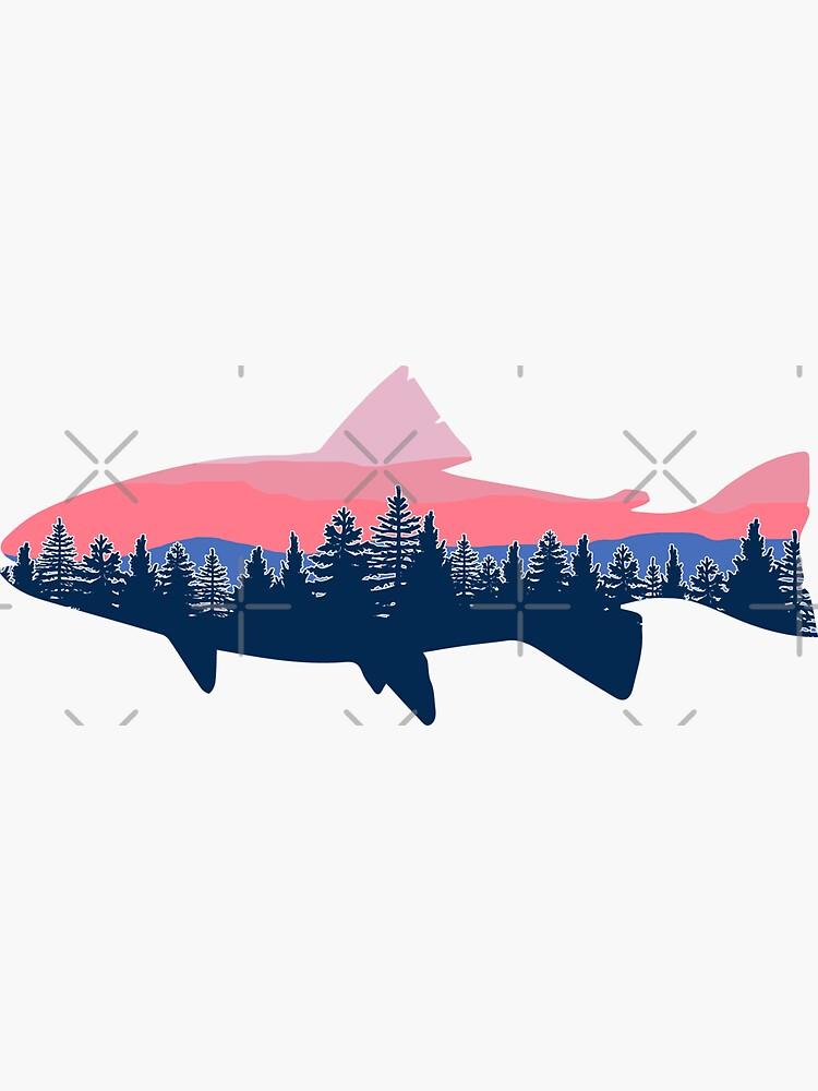 Línea Fish Sunset Tree de GreatLakesLocal