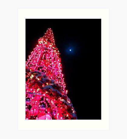 Pink Christmas Tree Art Print