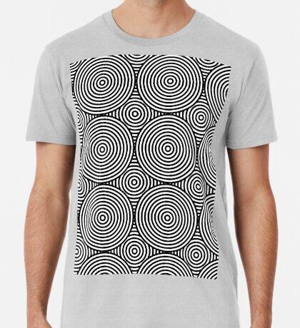 Offset Concentric Circles Pattern 004 Premium T-Shirt