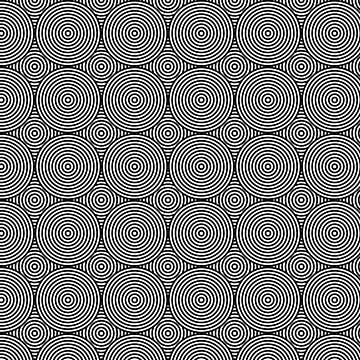 Offset Concentric Circles Pattern 004 by rupertrussell