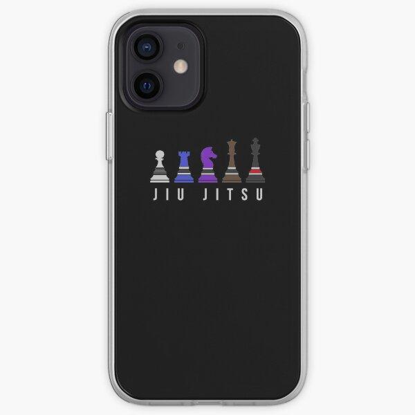 Chess Jiu Jitsu with Text Brazilian Jiu Jitsu Shirt for BJJ, Cool Gift iPhone Soft Case